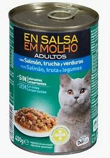 Delikuit adult cat sauce with salmon,trout&vegetables 400 grs *FREE SHIPPING*