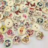 New 50/100pcs Mix Animal Wood Buttons 15mm Sewing Mix Lots WB25