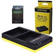 batteria en-el14 patona premium +caricabatteria MH-24 2 slot patona x en-el14