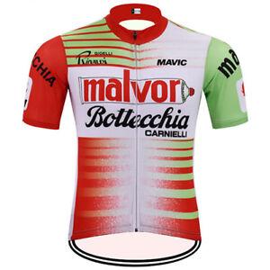 MALVOR BOTTECCHIA Tour de France Cycling Jersey Retro Road Clothing MTB Short