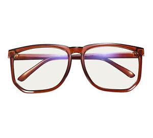 Womens Mens Retro Full Rim Glasses Frame Large Size Eyeglasses Clear Lens RX