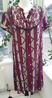 S'NOB  kaftan dress SNOB tunic dress in abstract print  UK 8/10 SMALL 'NAOMI'