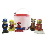 DISNEY Marvel Avengers Squeezy Bath Toy Set Bathtime 5 x Figure Playset **NEW**