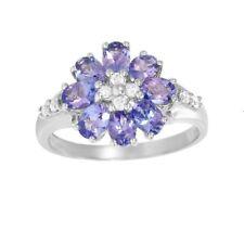 1.41ctw Diamond & Tanzanite Ring Solid 14k  White Gold