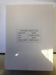 Laminating Pouches A4 250micron pk100