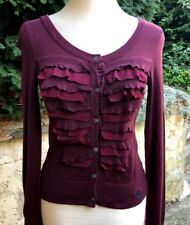 cardigan Abercrombie & Fitch Volants Maille S 36 38 TBE gilet pull promo outlet