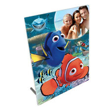 """Personalised Photo Finding Dory, Nemo  8""""x10"""" Toughened Glass Panel + Peg Stand"""