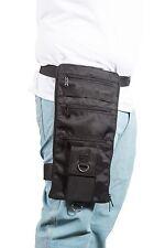 Drop Leg Bag Men Black, Motorcycle Biker Travel Waist Pack w/Belt, Free Shipping