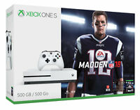 Microsoft Xbox One S Madden NFL 18 Bundle 500GB White Console