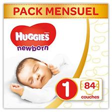 Huggies Newborn (Nouveaux-nés) - Couches Bébé Unisexe - Taille 1 (2-5 kg) x84 Co