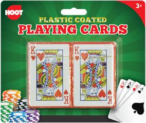 2 Playing Cards Decks Professional Plastic Coated Vintage Poker Blackjack Box