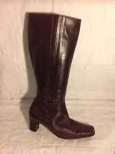 Van Dal Brown Knee High Leather Boots Size 4