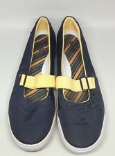 Keds Hampton Sport Size 6 Women's Navy Blue Yellow Slip On Shoe Mary Janes EUC