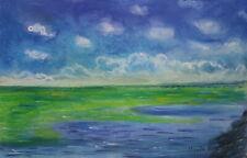 Claude Monet signed Antique museum impressionist original pastel painting