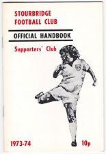 Stourbridge Supporters Club Handbook 73/4