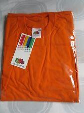 Fruit of The Loom - Plain Orange Cotton T Shirt - Size S