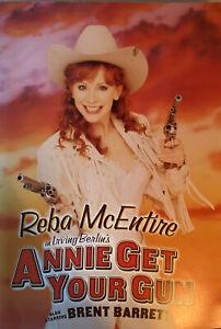 Bway Souvenir PROGRAM 2001 REBA McENTIRE ANNIE GET YOUR GUN+Autographed PosterRP
