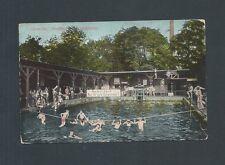 AK Chemnitz Karl-Marx-Stadt Schwimmbad am Schloßteich gelaufen 1912