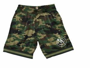 Mitchell And Ness Camo Mesh Team Colour Shorts Boston Celtics New