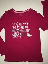 NWT GAP KIDS GIRLS XS 4-5 YEARS WINTER TIME TEE T SHIRT WISHES HOT COCOA HOLIDAY