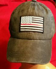 Red Line USA Flag Low Profile Pigment Dyed Cotton Twill Cap FIRE or SUPPORTERS
