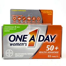 One A Day Womens 50+ Healthy Advantage Multivitamins 65 Tablets Exp 09/2020 NEW