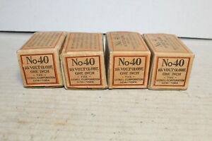 4 Lionel Prewar Standard Gauge #40 Lamp Globe Boxes