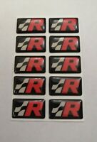 SEAT CUPRA R 3D DOMED BADGE LOGO EMBLEM STICKER GRAPHIC DECAL IBIZA LEON ATECA .