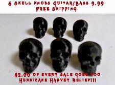 6 Skull Guitar/Bass Knobs