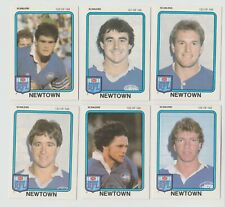 1981 Scanlens Gum NSW RFL football trading cards, Newtown Jets