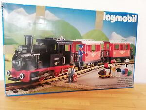 4001 Playmobil Eisenbahn - LGB Schienen - Lok + 2 Waggons - ohne Figuren
