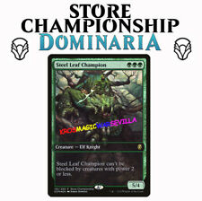 MTG STEEL LEAF CHAMPION - Campeón de hoja de acero -PROMO  DOMINARIA ENGLISH
