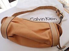 Cuir Véritable Lumière Camel Sac à main par Calvin Klein