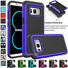 For Samsung Galaxy S20 S10 S9 S8 Rugged Armor Hybrid Shockproof Hard Case Cover