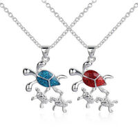 Exquisite Women Fashion Trendy Chain Opal Necklace Jewelry Sea Turtle Pendant