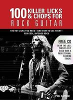 100 Killer Licks And Chops For Rock Guitar [Music Bibles] , Capone, Phil