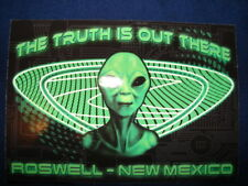 Roswell New Mexico UFO Crash Landing The Truth is Out There Alien Postcard
