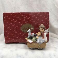 """2005 Goebel Nina & Marco Angel with Toys and Wagon Figurine #22233   3.5"""""""