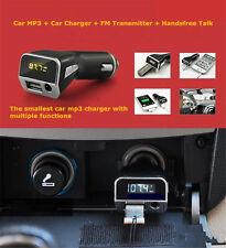 Radio Fm Transmitter Plmp2A w/ Usb Port for Pyle Charging 3.5mm Aux Input Car