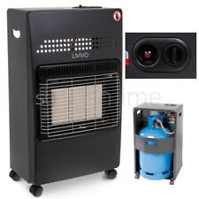 4.2KW CALOR GAS PORTABLE CABINET HEATER FIRE BUTANE WITH REGULATOR & HOSE