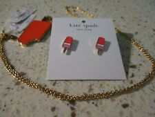 KATE SPADE FLOCORAL POPSICLE NECKLACE & EARRINGS BRAND NEW WITH TAGS SO FUN!
