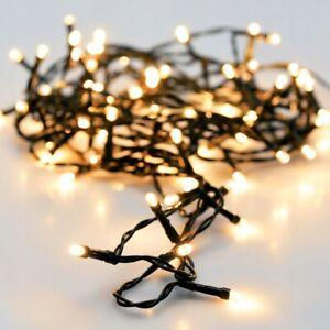 LED Lichterkette 40 - 720 innen außen warmweiß outdoor Weihnachten Strom Baum