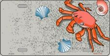 """Crabs and Seashells Novelty 6"""" x 12"""" Metal License Plate Sign"""