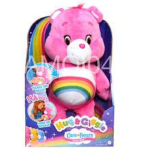 Care Bears Cheer Bear Rainbow Pink Plush Toy Hug & Giggle Tickle My Belly New