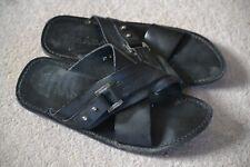 Men's Women's Unisex PRADA Flip Flops Sandles Black Leather UK Size 7
