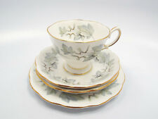 Royal Albert Bone China Silver Maple 4pc Set - Tea Cup 2 Saucers Dessert Plate