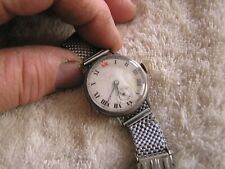 Antique Trench Watch Sterling Silver Case Pocket Watch Conv 15 Jewels Swiss