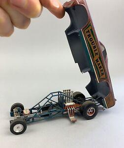 Vintage Monogram El Camino Funny Car Model Kit Trouble Maker Built Drag Racing