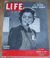 Life Magazine January 22, 1951 Air Defense/Raoul Dufy/Sinclair Lewis/Hockey