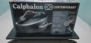 CALPHALON CONTEMPORARY 2.5 QT SAUCE PAN NEW FREE SHIPPING